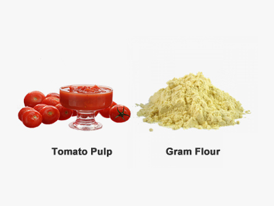 Homemade Face Brightening Mask-gram flour and tomato mask