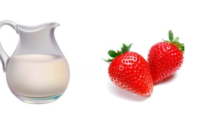 strawberry and raw milk face mask for tan removal