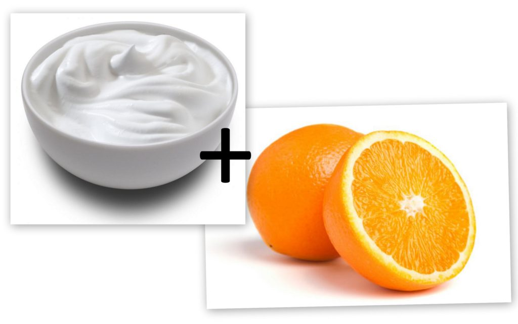 orange juice and yoghurt for tan removal