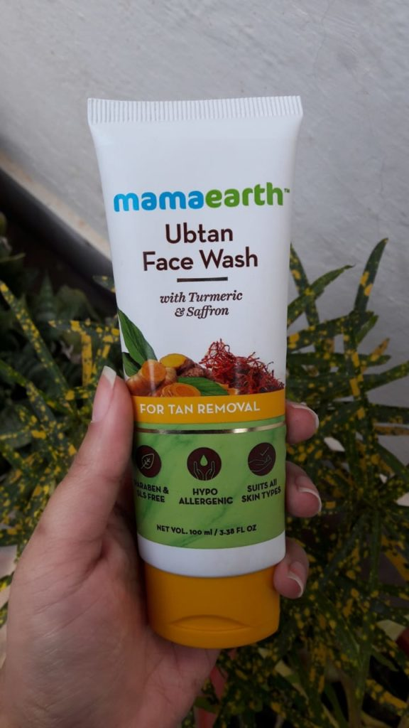 Mamaearth Ubtan Face wash with turmeric and saffron review