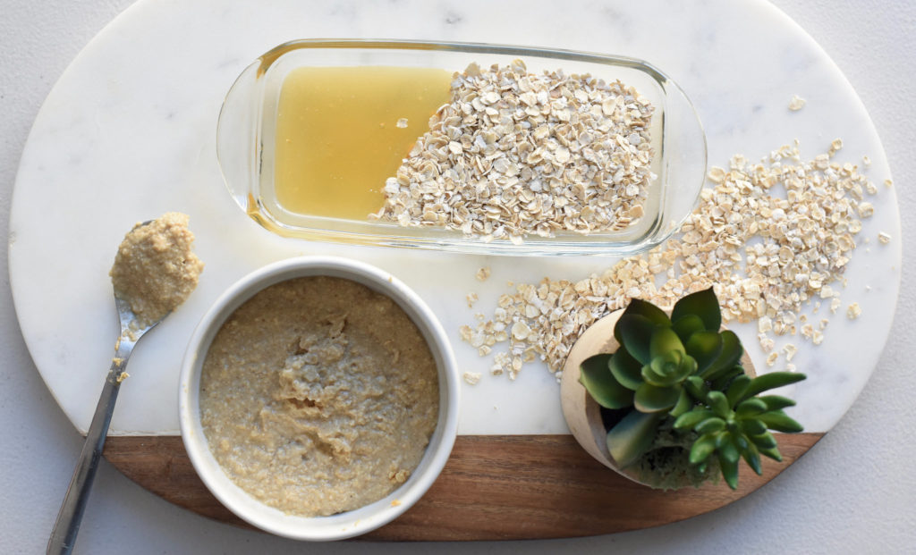 oatmeal and honey body scrub