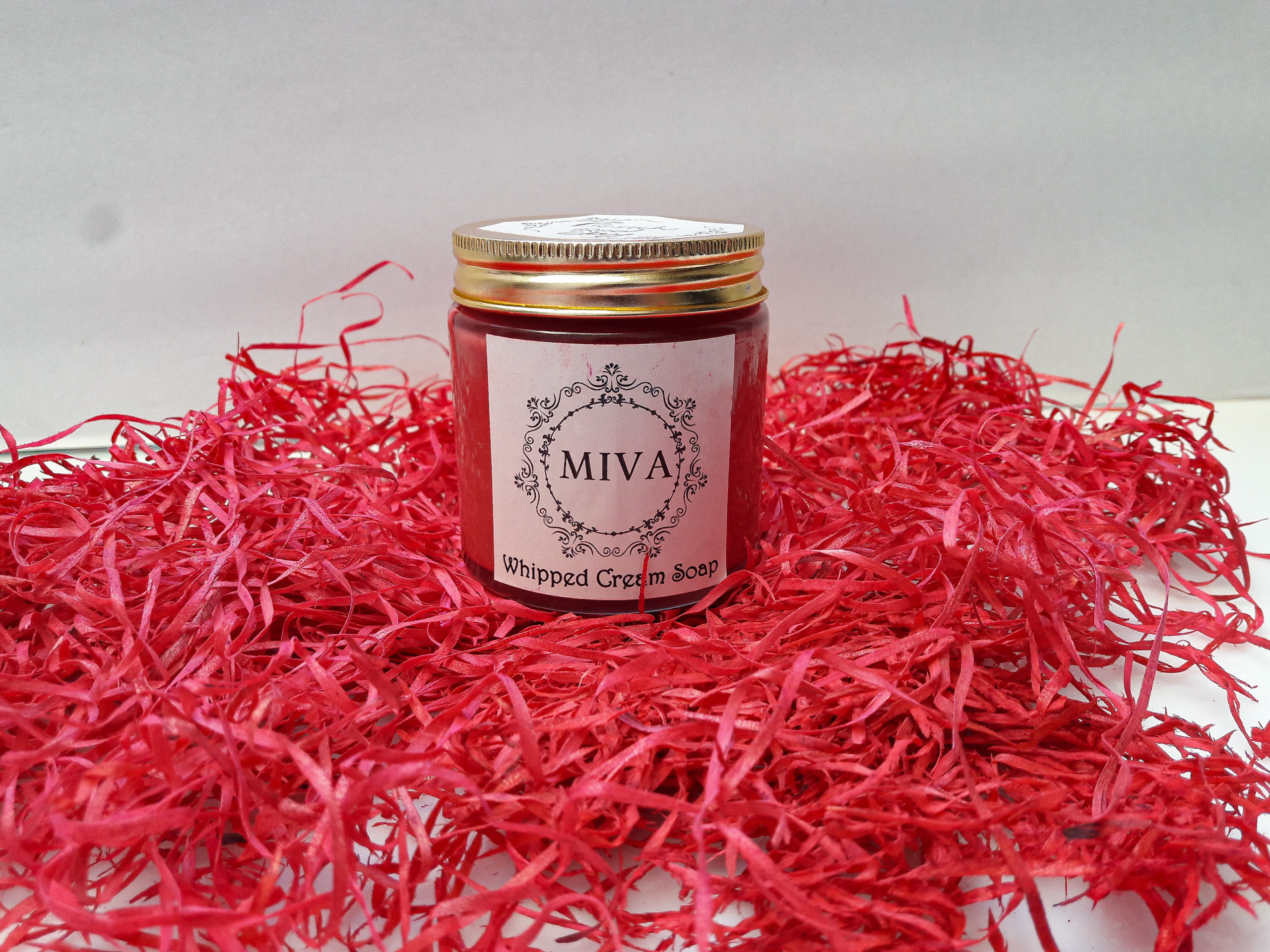 French Red Clay Whipped Soap by Miva Naturals