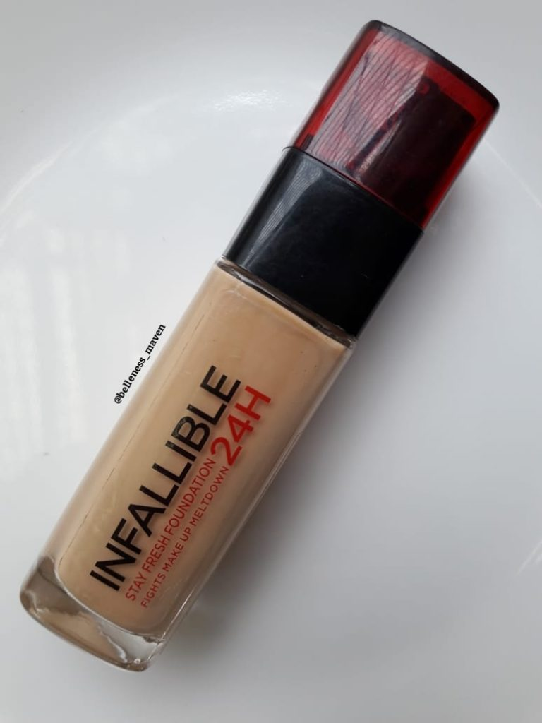 L'Oréal Infallible Foundation Review packaging