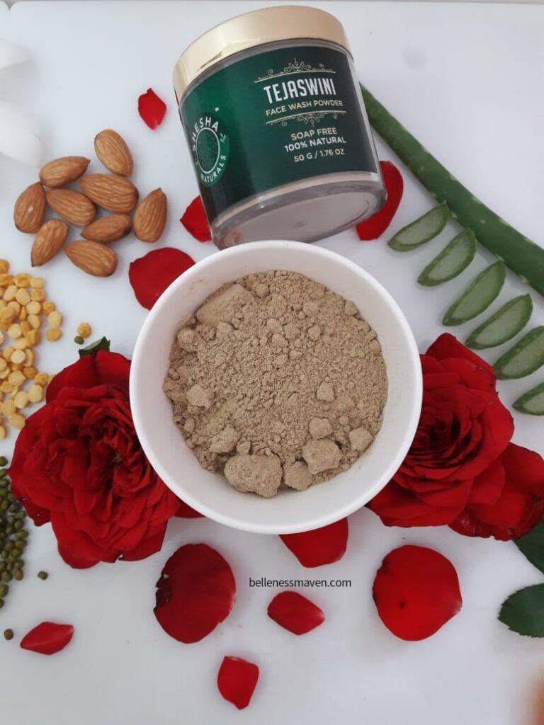 Shesha Naturals Tejaswini Face Wash Powder Review