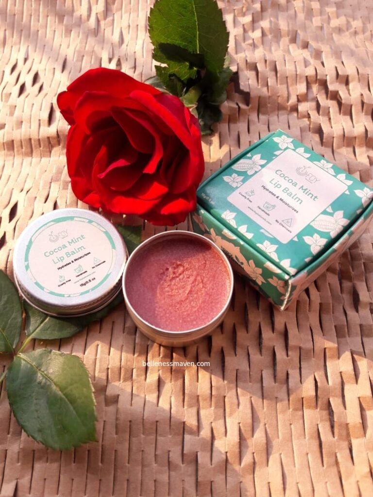 Foy Naturals Cocoa Mint Lip Balm Review